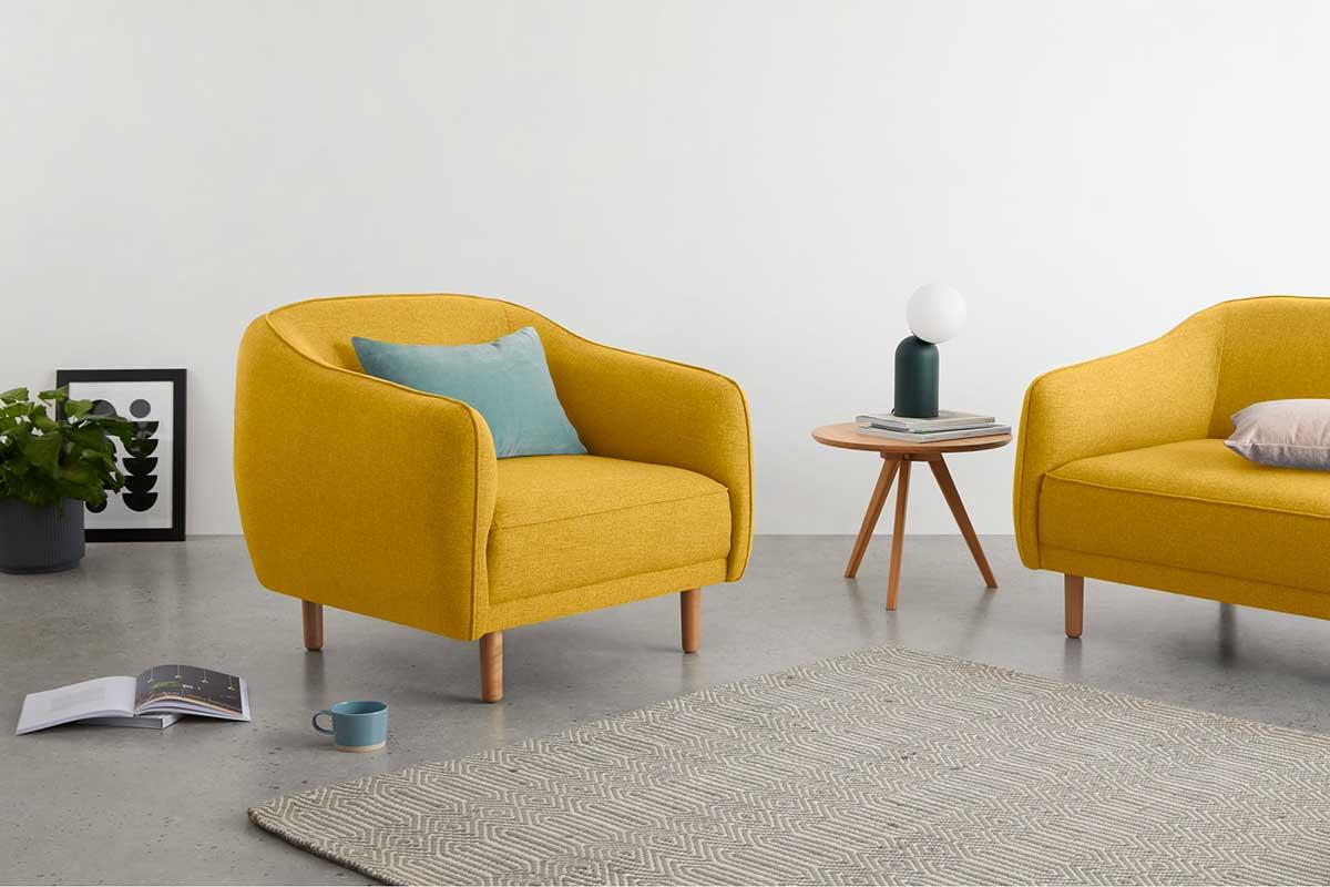 Fauteuil jaune : 19 idées déco pour le salon
